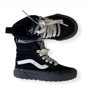 Vans Glitter High Top Skateboard Shoes